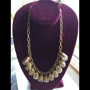 Lenora Dame Gold Tone Anthropologie Bead Necklace